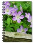 Wild Geraniums Spiral Notebook