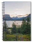 Wild Goose Island Sunset - Glacier National Park Montana Spiral Notebook