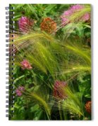 Wild Grasses And Red Clover Spiral Notebook