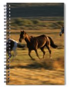 Wild Horses Running Together Spiral Notebook
