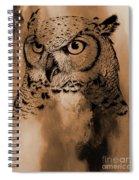 Wild Owl Eyes Spiral Notebook