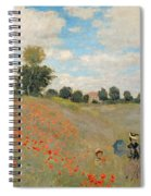 Wild Poppies Near Argenteuil Spiral Notebook