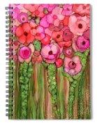 Wild Poppy Garden - Pink Spiral Notebook