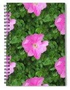 Wild Rose Pattern Spiral Notebook