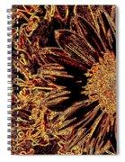Wild Sunflower Abstract Spiral Notebook