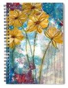 Wild Sunflowers- Art By Linda Woods Spiral Notebook