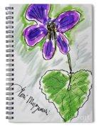 Wild Violet  Spiral Notebook