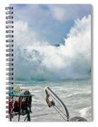 Wild Waves In Cornwall Spiral Notebook