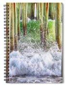 Wild Waves Under The Boardwalk Spiral Notebook