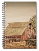 Wild West Barn And Hay Wagon Spiral Notebook