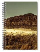 Wild West Mountain Panorama Spiral Notebook