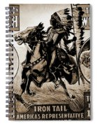 Wild West Poster Spiral Notebook