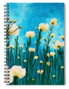 Poppies In The Blue Sky Spiral Notebook