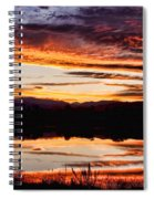 Wildfire Sunset Reflection Image 28 Spiral Notebook