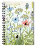 Wildflower And Bees Spiral Notebook