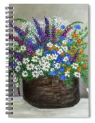 Wildflower Basket Acrylic Painting A61318 Spiral Notebook