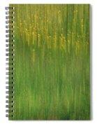 Wildflower Fields Abstract Spiral Notebook