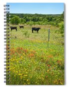 Wildflower Pastures On Willow City Loop Spiral Notebook