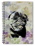 Wildflower Pug Spiral Notebook