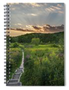 Wildflower Sunset 2016 Square Spiral Notebook