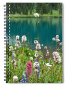 Wildflowers Along The Lake Spiral Notebook