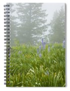 Wildflowers And Fog Spiral Notebook