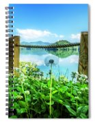 Wildflowers At The Lake In Spring Spiral Notebook