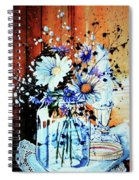 Wildflowers In A Mason Jar Spiral Notebook