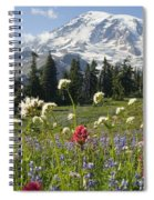 Wildflowers In Mount Rainier National Spiral Notebook