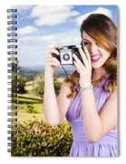 Wildlife Photographer Shooting Insects And Nature Spiral Notebook