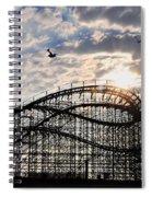 Wildwood Roller Coaster Spiral Notebook
