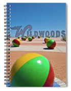 Wildwood's Sign, Wildwood, Nj Boardwalk . Copyright Aladdin Color Inc. Spiral Notebook