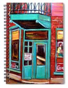 Wilenskys Cafe On Fairmount In Montreal Spiral Notebook