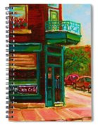 Wilenskys With Red Geraniums Spiral Notebook