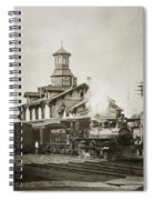 Wilkes Barre Pa. New Jersey Central Train Station Early 1900's Spiral Notebook