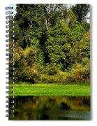Willamette River Reflections 3813 Spiral Notebook