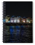 Willemstad Curacao At Night Spiral Notebook