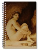 William Bouguereau Seated Nude  Spiral Notebook
