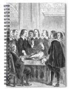 William Harvey Explaining Blood Spiral Notebook