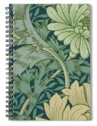 William Morris Wallpaper Sample With Chrysanthemum Spiral Notebook