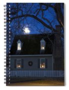 Williamsburg House In Moonlight Spiral Notebook