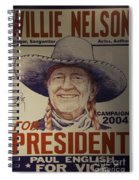 Willie For President Spiral Notebook