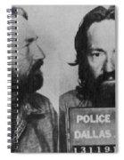 Willie Nelson Mug Shot Horizontal Black And White Spiral Notebook