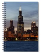 Willis Tower At Dusk Aka Sears Tower Spiral Notebook
