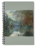 Willows At The Edge Of The Yerres Spiral Notebook