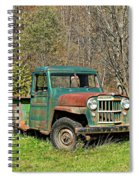 Willys Jeep Pickup Truck Spiral Notebook