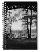 Wilson Pond Framed In Black And White Spiral Notebook