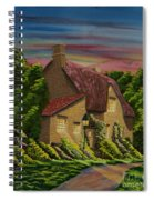 Wiltshire At Sunset Spiral Notebook