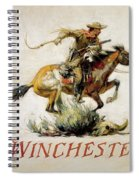 Winchester Horse And Rider  Spiral Notebook