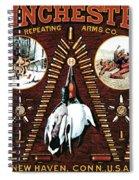 Winchester W Cartridge Board Spiral Notebook